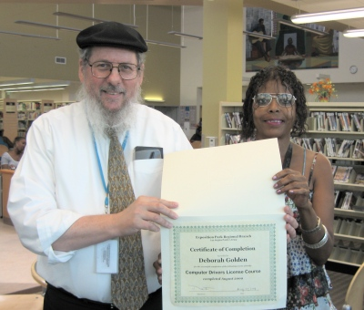 Deborah Golden receives certificate